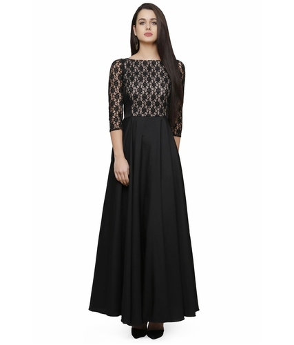 Designer Black and White Gown (Long Dress) at Rs 499 /piece ...