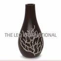 black color wooden vase modern look