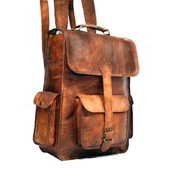 Leather College Backpack Bags