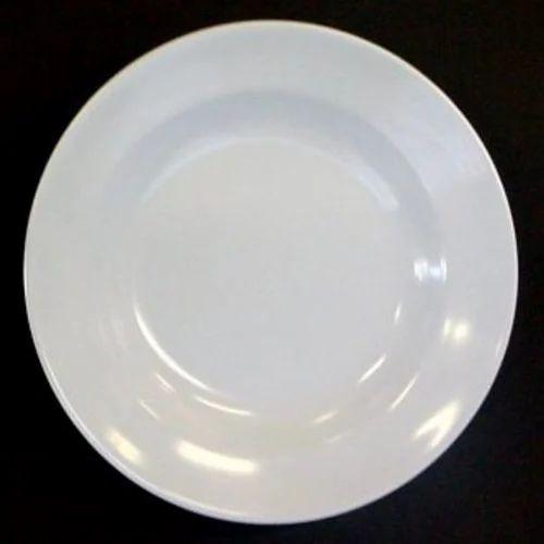 White Melamine Plates Size 7 Inch
