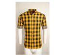 Urban Design Casual Yellow Checked Shirts