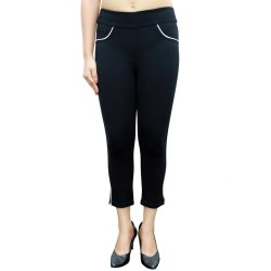 BELORE SLIMS Stretchable Capri with piping