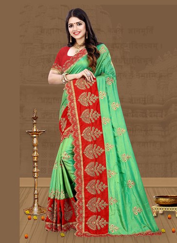 cc4468f656 Surat Wholesale Shop Silk Sarees Collection For Party Wear, Machine Made  ,Adult