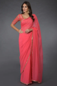 Pink Sequin Hand Embroidered Saree and Blouse