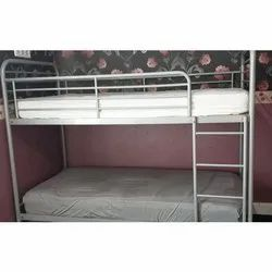 Chrome Finish Stainless Steel Single Bed, Size: 5x4 Feet