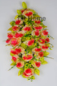 Artificial Flowers Wall Hanging Round Basket