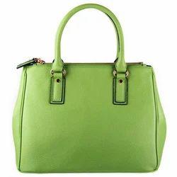 Parrot Green Stylish Leather Handbag