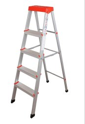 Parasnath 4 Step Light Weight Aluminium Heavy Duty Folding Ladder