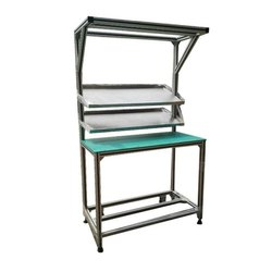 Powder Coated Aluminum Work Table, For Industrial