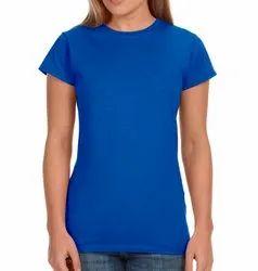 Half Sleeve Cotton Womens Plain Half Sleeves T Shirts