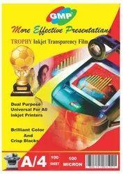 Transparency Film For Inkjet Printers