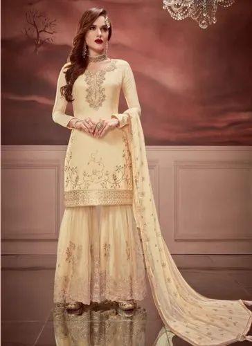 7d3106c0b9 Eid Special Russian Silk Sharara Suits, शरारा - Surat Wholesale ...