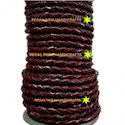 Antique Wine Braided Leather Cord