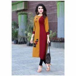 Ladies Plain Casual Wear Kurti