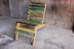 Wooden Natural Relax Beach Reclaimed Solid Wood Vintage Antique Chair
