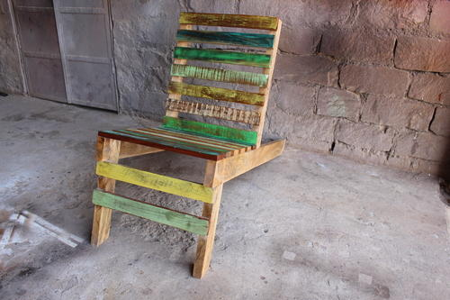 Reclaimed Solid Wood Vintage Chair
