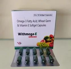 Omega-3 Fatty Acid, Wheat Germ & Vitamin E Softgel Capsules