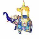 Metal Meenakari Ambabari Elephant