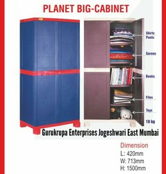 Double Door Modern Plastic Storage Cabinet, for Home