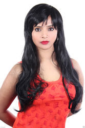 65cm Soft Hair Long Wave Synthetic Hair Wig
