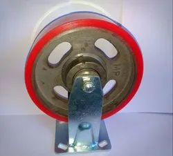 Heavy Duty 200mmx50mm Cast PU Trolley Wheels