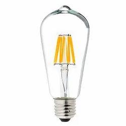 Glass Angled Front 6 W ST64 LED Filament Bulb