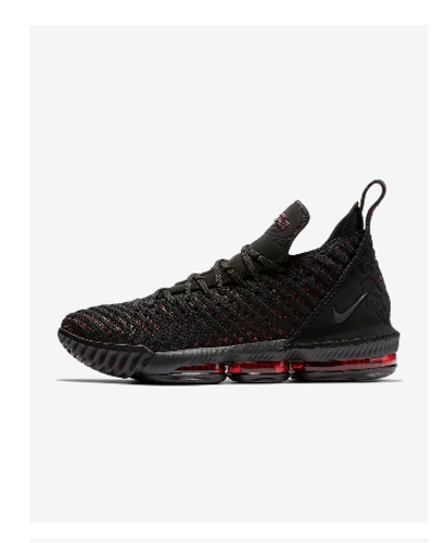 d133cb4e096ee Black/University Red/Black Men Nike Lebron 16 Shoes, Rs 18995 /piece ...