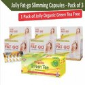 Olly Fat Go Slimming Capsules - Combo Of 3  1 Box Jolly Organic Green Tea Free