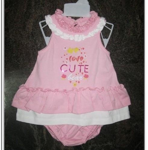 Pink Single Pcs Along With Inner Wear Baby Dress