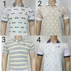 Mens Printed Polo T Shirts