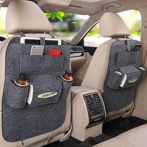 Cartoon Auto Seat Back Multi-Pocket Storage Bag Organizer Holder
