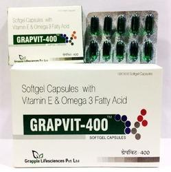 GRAPVIT-400 Vitamin E Omega 3 Fatty Acid Softgel Capsules