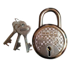 With Key Normal Round Padlock 50mm Double locking, Stainless Steel,Chrome