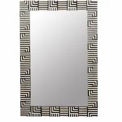 Rectangle Modern Bone Inlay Mirror Frame, Size/Dimension: 24x36 Inch