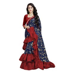 Imported Fabric Frilled Saree