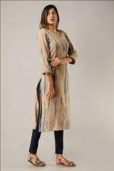 New Design Collection Rayon Hand Embroidered Long Kurtis