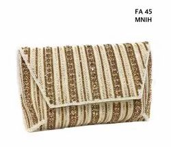 Embroidered Silk Crystal Envelop Ladies Bags FA 45