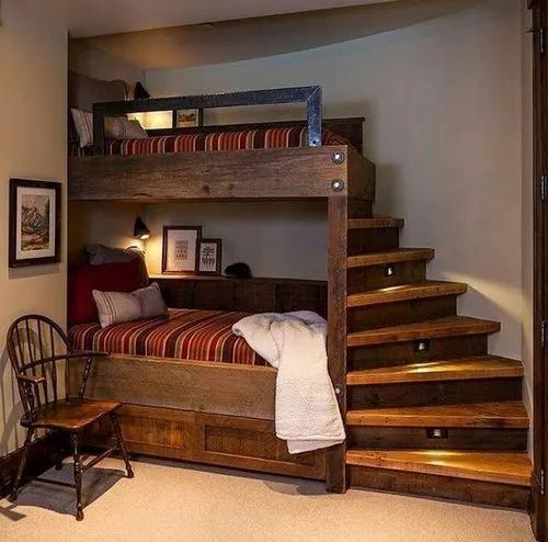 Natural Wooden Double Story Wooden Bed Rs 55000 Piece