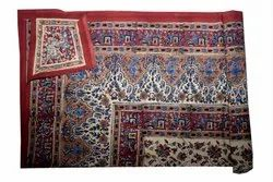 Indian Traditional Cotton Hand Made Paisley Hand Block Printed Queen Bed Cover Bed Sheet