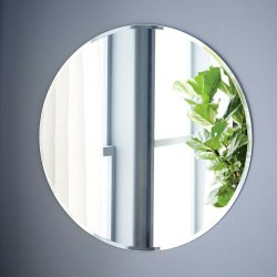 Glass Wall Mounted Round Mirror, Thickness: 5-10 mm