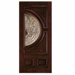 PVC Decorative Wooden Glass Door