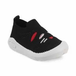 KTG813 Black Kids Slip On Shoes