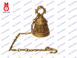 Temple Bell Carved with Krishna
