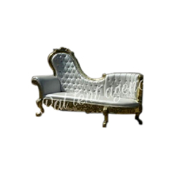 Silver Traditional Fiber Wedding Sofa
