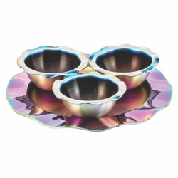 Sanjeev Kapoor Stainless Steel Wave Bowl Set, For Home, Hotel And Restaurant