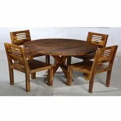 Brown Wooden Modular Round Dining Table Set Size Dimension 45 45 30 Inch Rs 14500 Unit Id 21882189533