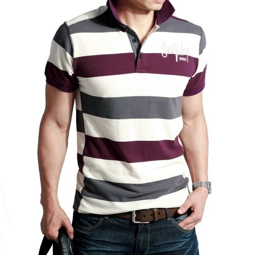 Mens Striped Polo T-Shirts