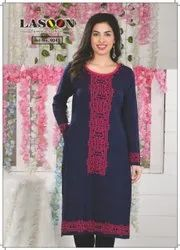 5071 Full Sleeves Woolen Kurtis