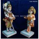 Colored Gauri Shankar Marble Statue