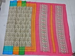 Handloom Printed Silk Saree